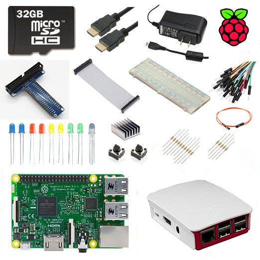 Raspberry Pi 3 Model B Ultimate Starter Kit + 1 GB RAM Quad Core 1.2 GHz 64bit CPU WiFi & Bluetooth